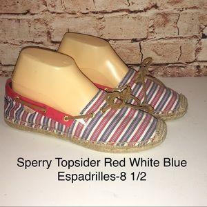 Sperry Topsider Americana Espadrilles-Size 8 1/2